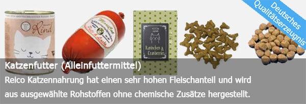 Dies ist ein Bild von Reico Katzenfutter Produkten